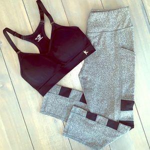 2 Piece Black & Gray Workout Outfit Bundle